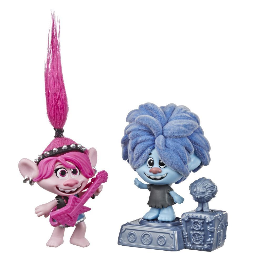DreamWorks Trolls World Tour Rock CIty Bobble with 2 Figures, 1 with Bobble Action Plus Base