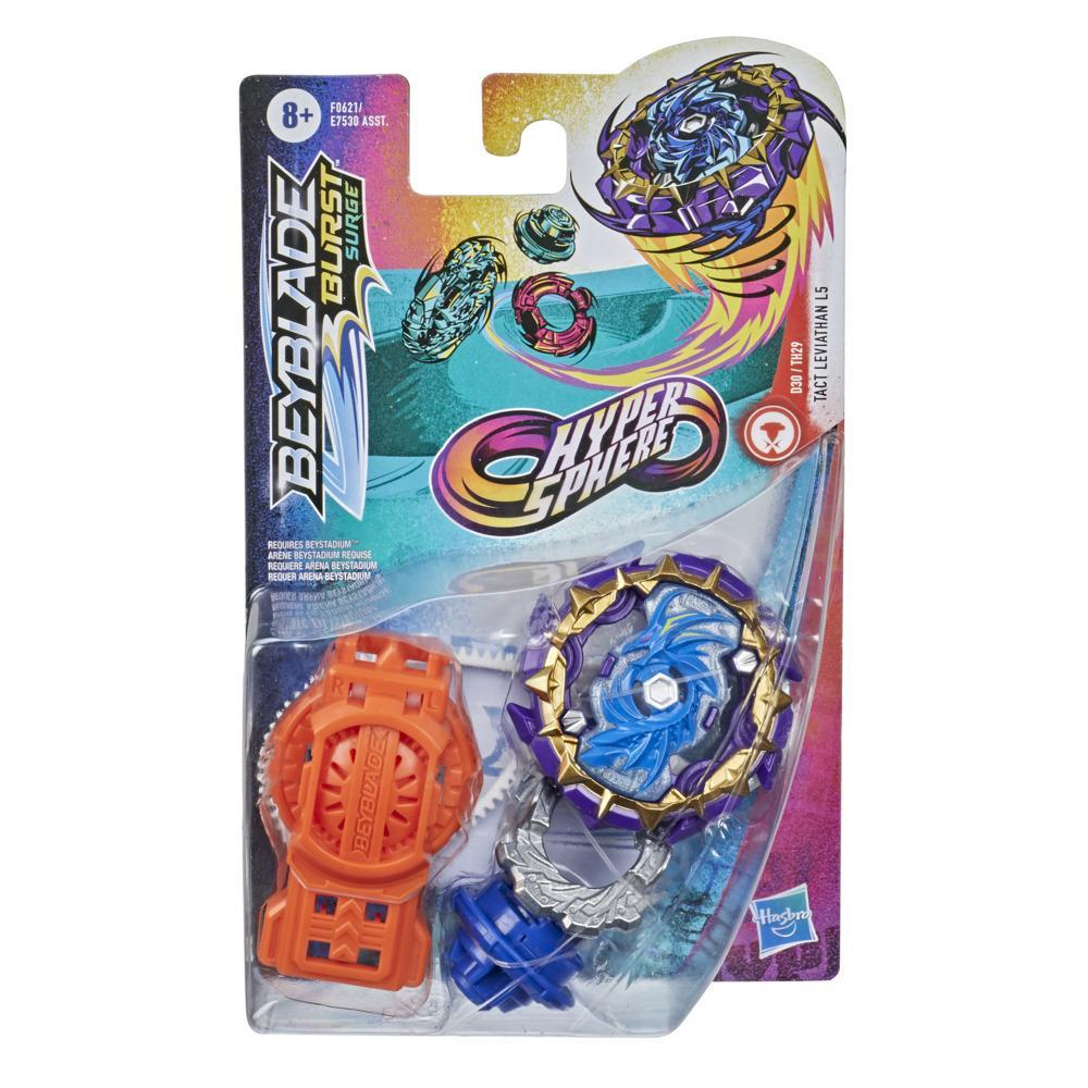 Beyblade Burst Rise Hypersphere Tact Leviathan L5 Starter Pack -- Balance Type Battling Game Top and Launcher Toy