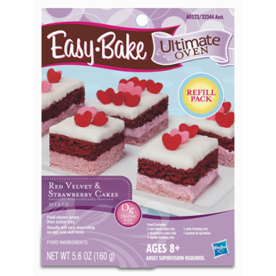 Easy-Bake Ultimate Oven Red Velvet & Strawberry Cakes Refill Pack Toy