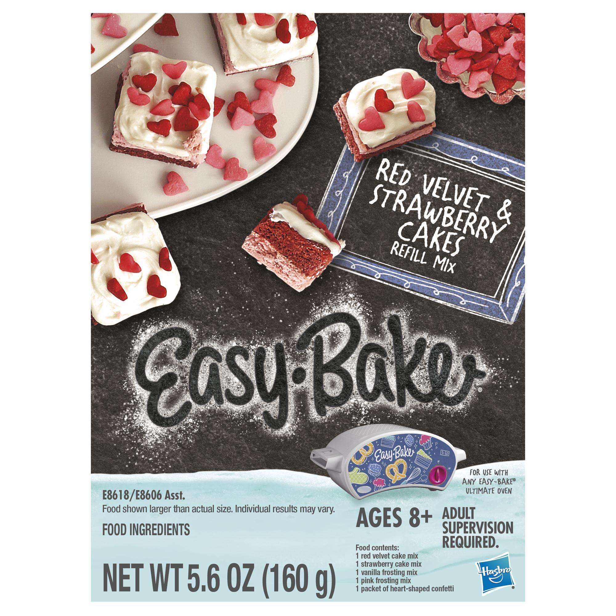 Easy-Bake Ultimate Oven Red Velvet & Strawberry Cakes Refill Pack Toy