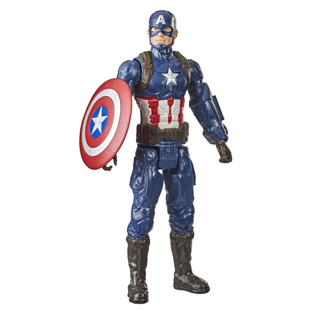 Marvel Avengers Titan Hero Series Collectible 12-Inch Captain America Action Figure, Toy For Ages 4 and Up