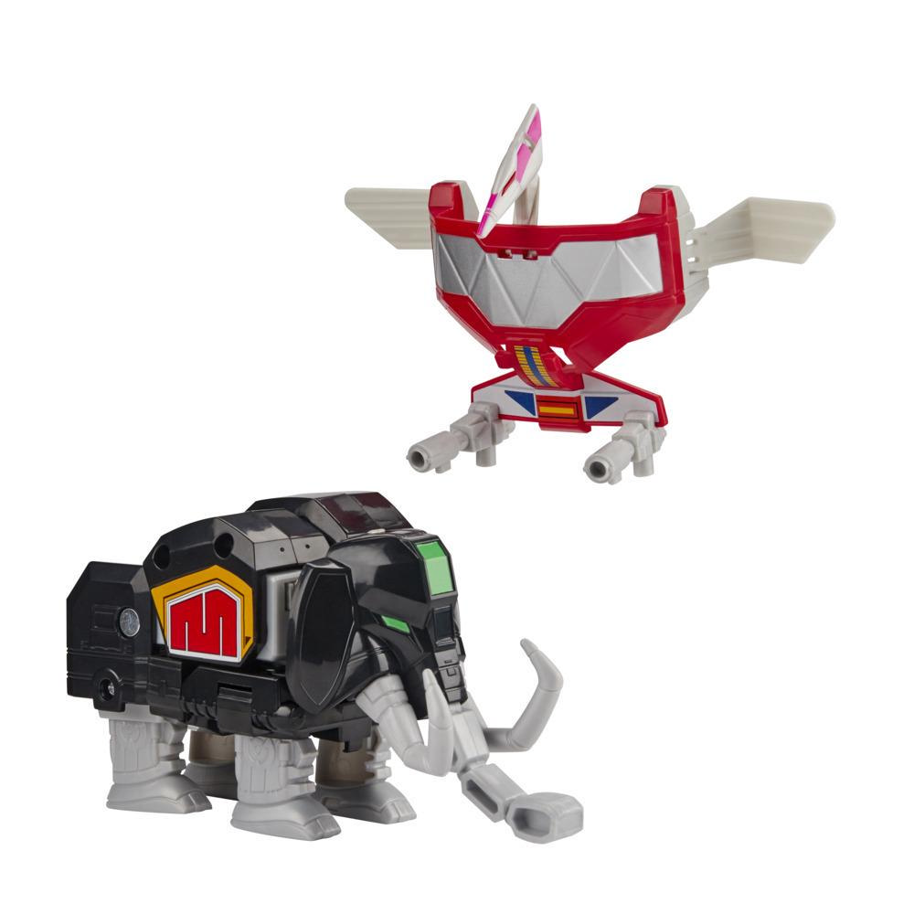 Power Rangers Mighty Morphin Mastodon Dinozord and Pterodactyl Dinozord Toy 2-Pack Action Figures for Kids Ages 4 and Up