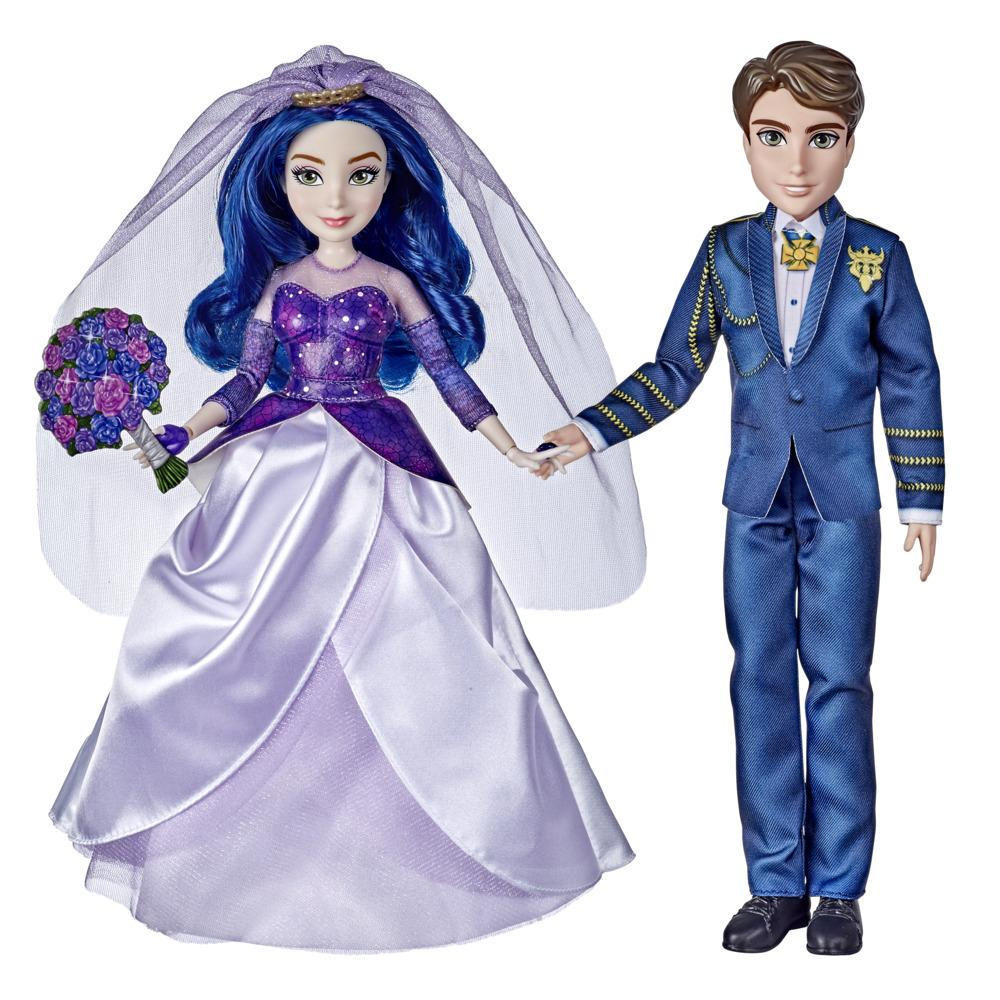 Disney Descendants Mal and Ben Dolls, Inspired by Disney The Royal Wedding: A Descendants Story, Toy with Accessories