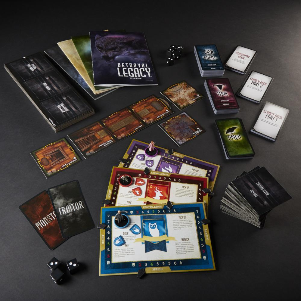 Avalon Hill Betrayal Legacy Role-Playing, Haunted Narrative Board Game, for Ages 12 and Up for 3-6 Players