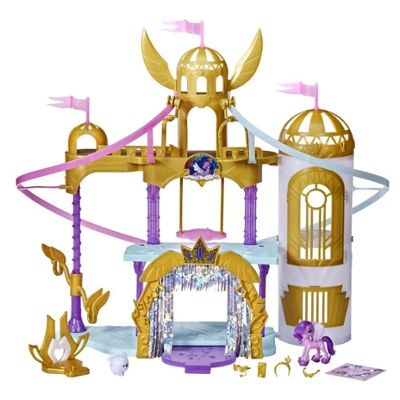 My Little Pony: A New Generation Movie Royal Racing Ziplines - 22-Inch Castle Playset with Ziplines, Princess Petals Toy