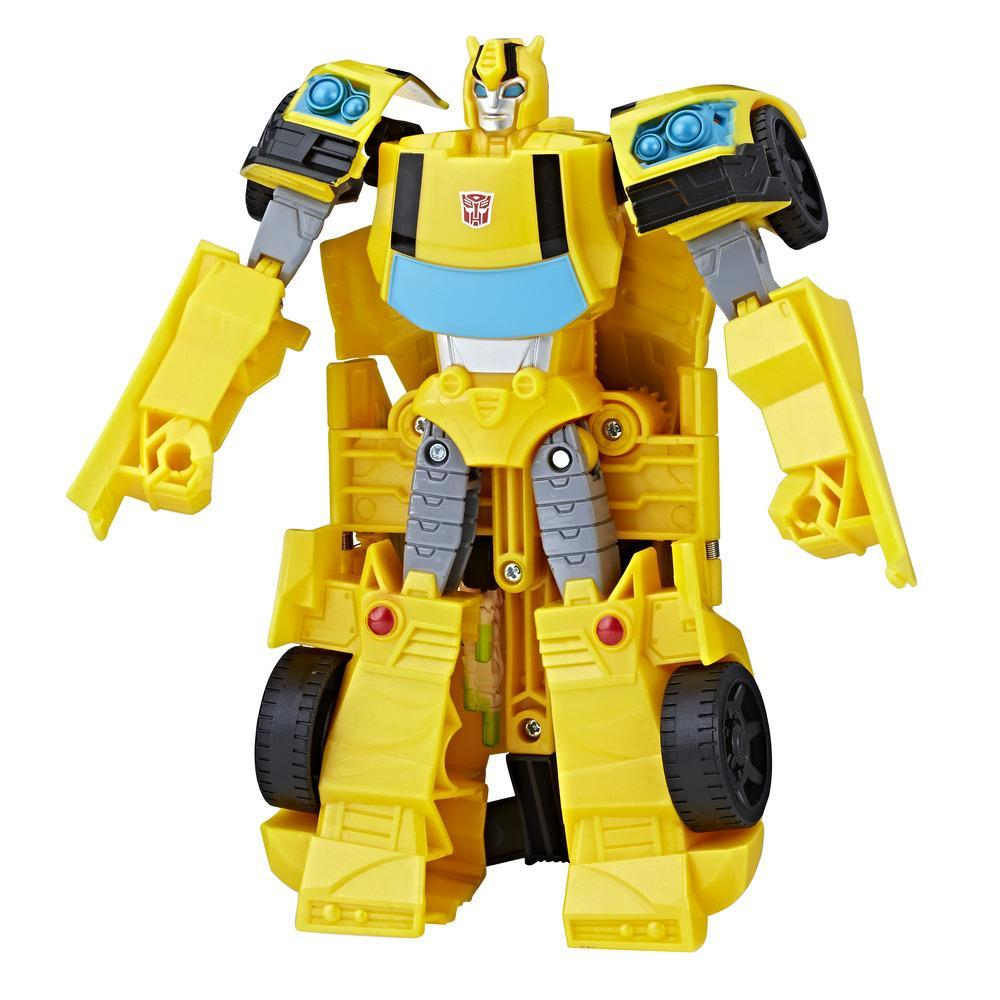 Transformers Toys Cyberverse Action Attackers Ultra Class Bumblebee Action Figure - Repeatable Hive Swarm Action Attack - For Kids Ages 6 and Up, 7.5-inch