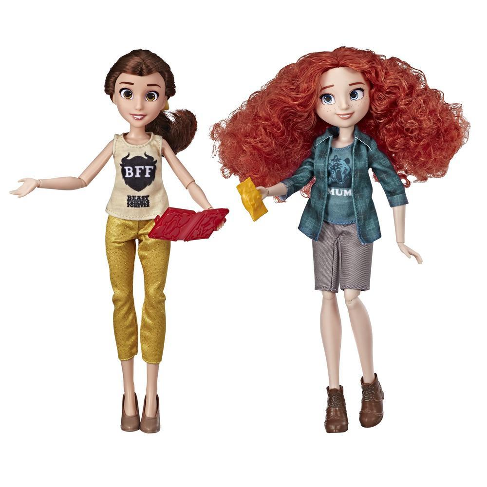 Disney Princess Ralph Breaks the Internet Movie Dolls, Belle and Merida Dolls
