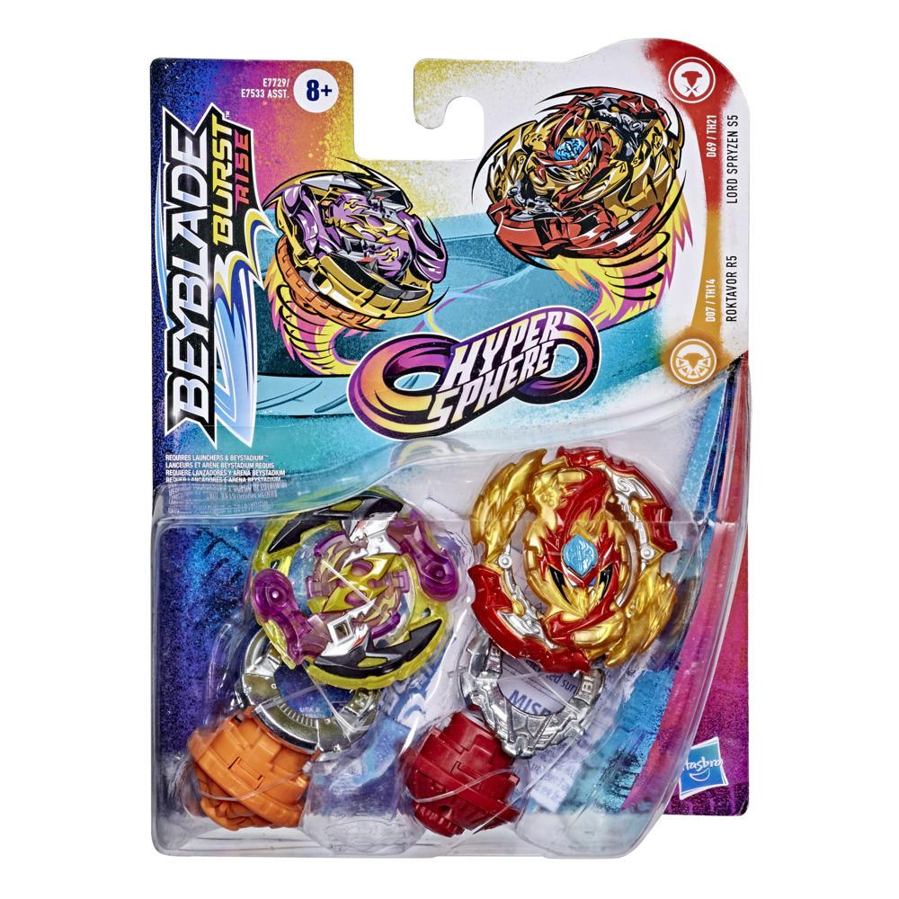 Beyblade Burst Rise Hypersphere Dual Pack Lord Spryzen S5 and Roktavor R5 -- 2 Battling Top Toys, Ages 8 and Up