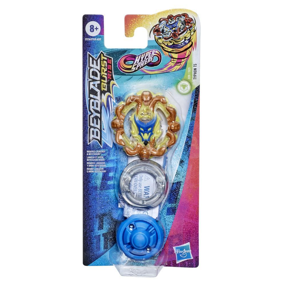 Beyblade Burst Rise Hypersphere Typhon T5 Single Pack -- Defense Type Battling Top Toy, Ages 8 and Up
