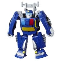 Transformers Rescue Bots Academy Chase the Police-Bot Converting Toy, 4.5-Inch Figure, Toys for Kids Ages 3 and Up