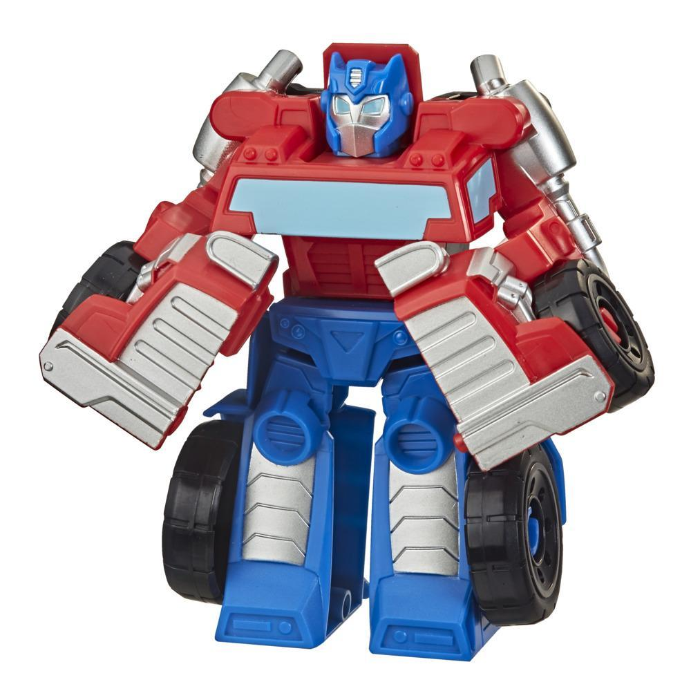 Transformers Rescue Bots Academy Optimus Prime Converting Toy, 4.5-Inch Figure, Toys for Kids Ages 3 and Up