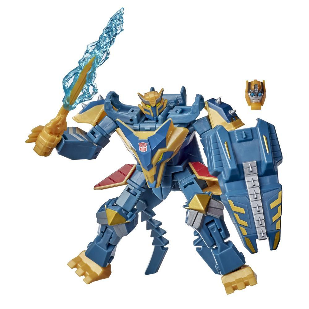 Transformers Bumblebee Cyberverse Adventures Toys Deluxe Class Thunderhowl Action Figure, With Build-A-Figure Piece, 5-inch
