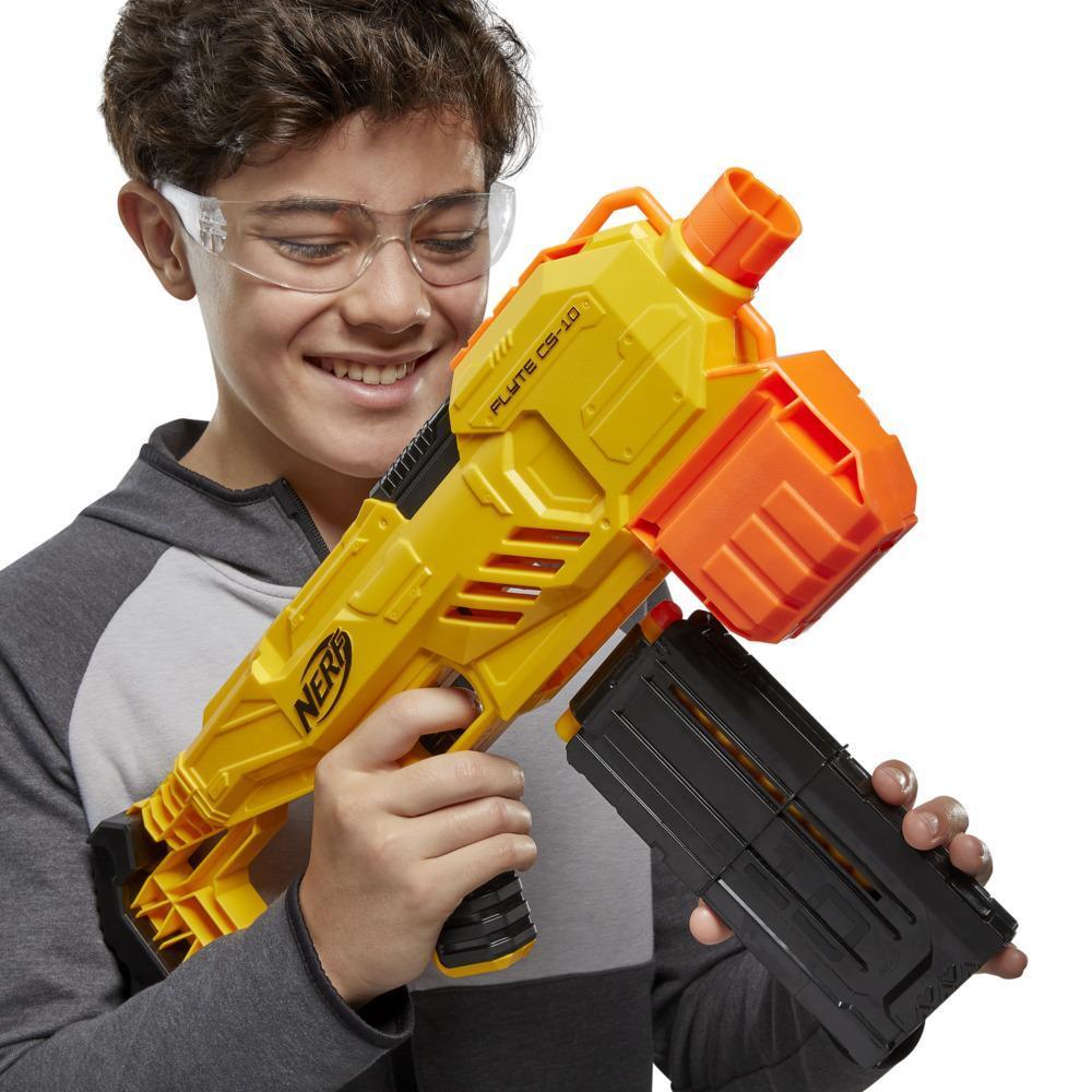 Nerf Alpha Strike Flyte CS-10 Motorized 10-Dart Blaster – 20 Official Nerf Elite Darts Darts -- For Kids, Teens, Adults