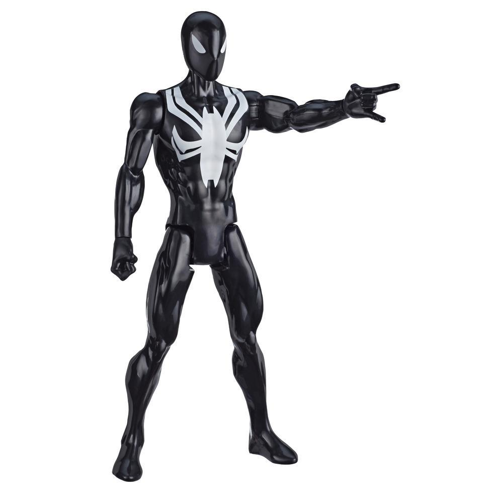 Marvel Spider-Man: Titan Hero Series Villains Black Suit Spider-Man 12-Inch-Scale Super Hero Action Figure Toy