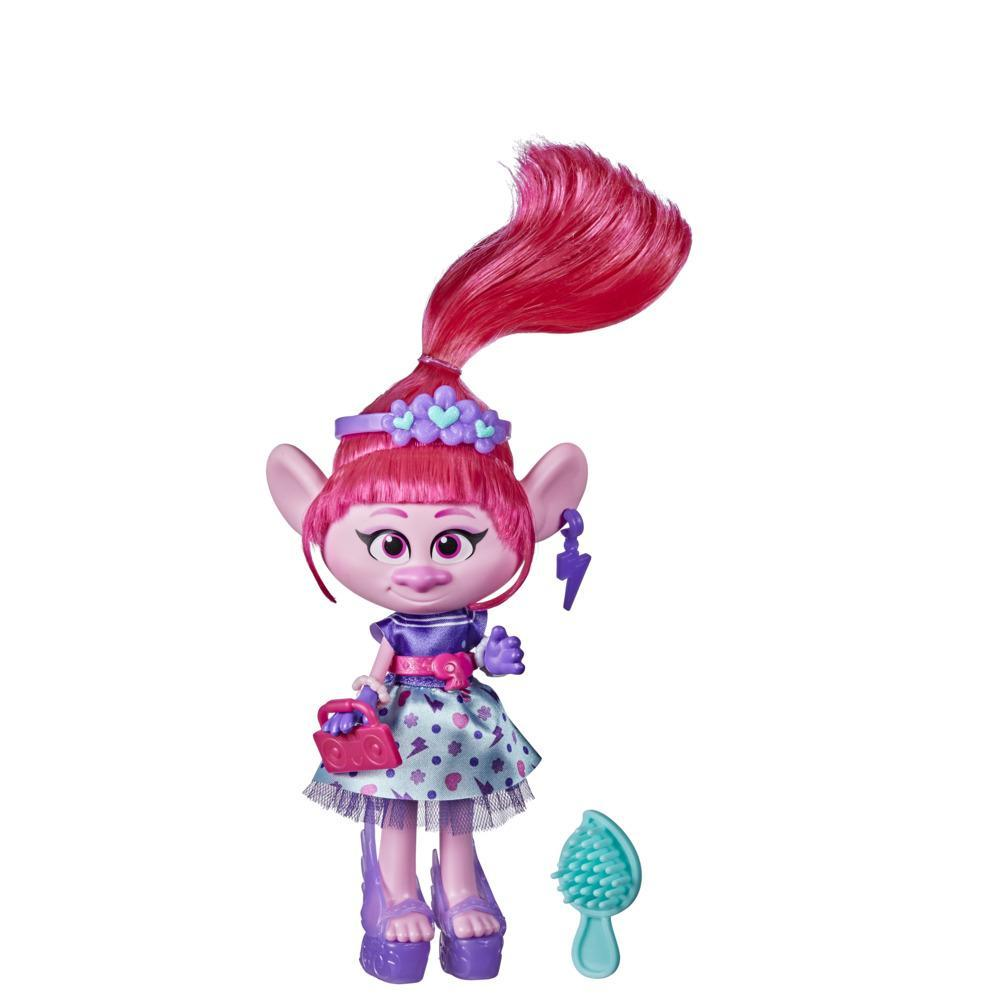 DreamWorks TrollsTopia Rockabilly Poppy Fashion Doll with Dress and Shoes, Fashion Trolls Toy for Girls 4 and Up