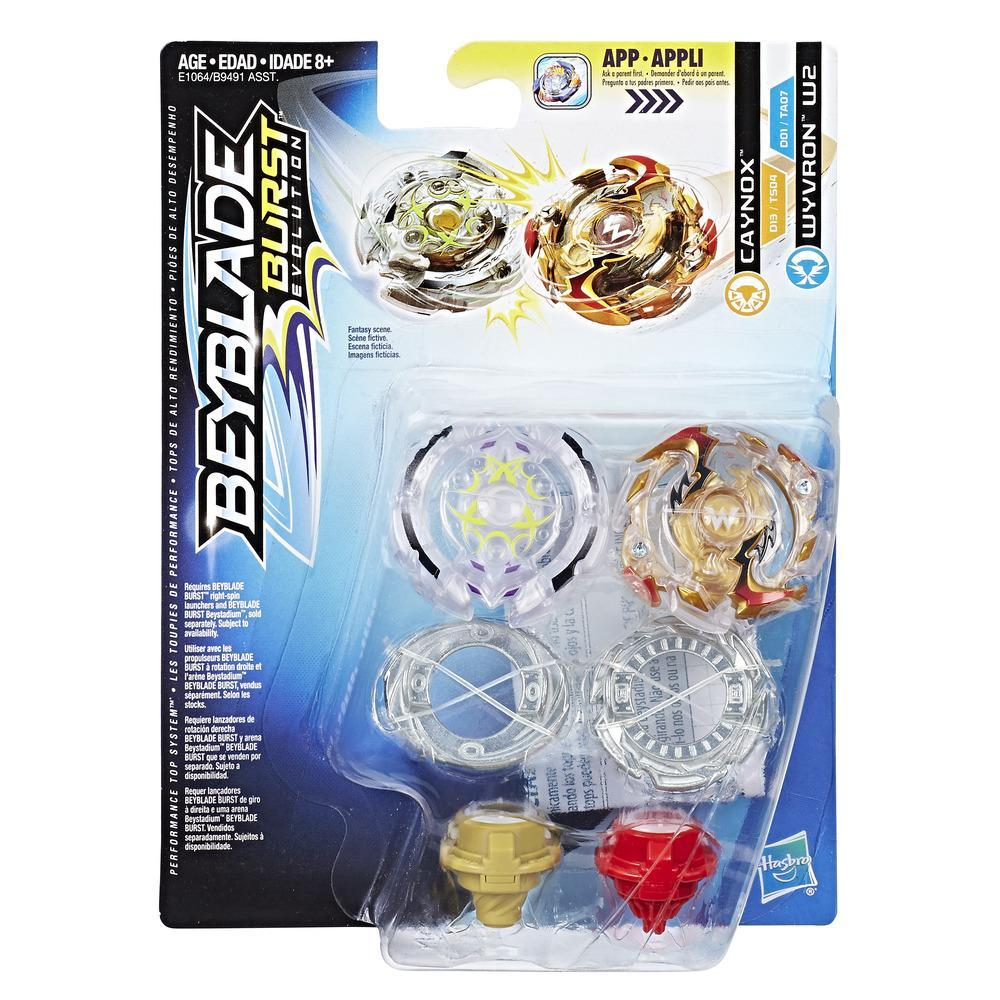 Beyblade Burst Evolution Dual Pack Caynox and Wyvron W2