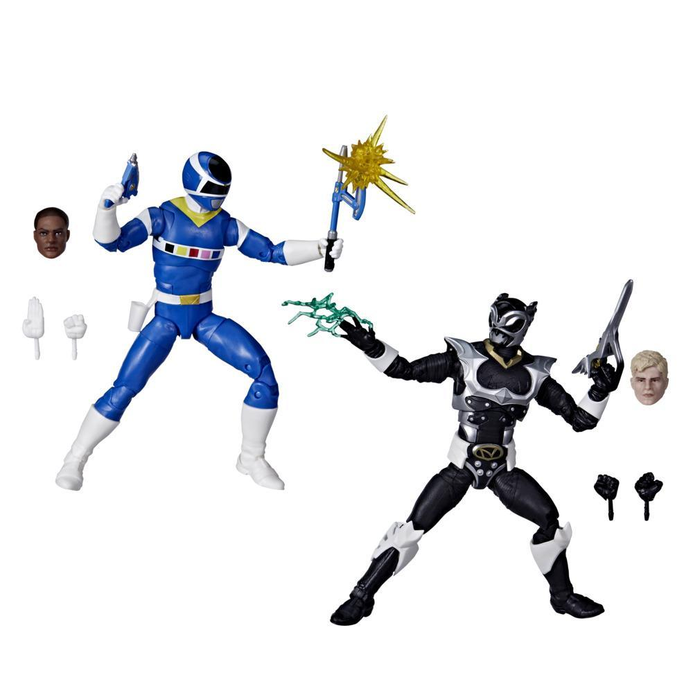 Power Rangers Lightning Collection In Space Blue Ranger Vs. Silver Psycho Ranger 2-Pack 6-Inch Action Figure Toys
