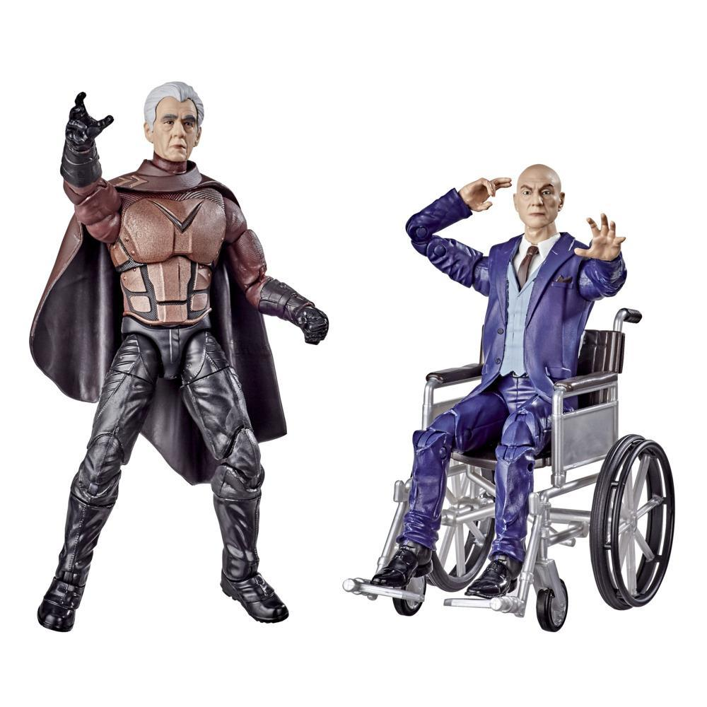 Hasbro Marvel Legends Series X-Men 6-inch Collectible Magneto and Professor X Action Figures Toys, Ages 14 And Up