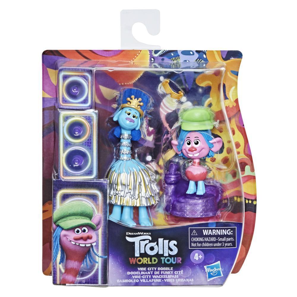 DreamWorks Trolls World Tour Vibe City Bobble with 2 Figures, 1 with Bobble Action Plus Base