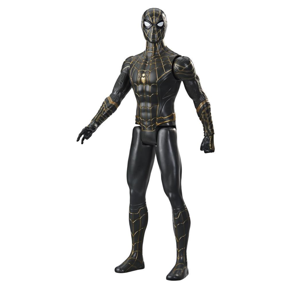 Marvel Spider-Man Titan Hero Series 12-Inch Black and Gold Suit Spider-Man Action Figure Toy, Inspired By Spider-Man Movie, For Kids Ages 4 and Up
