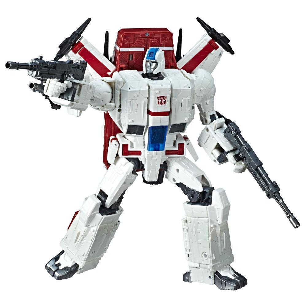 Transformers Toys Generations War for Cybertron Commander WFC-S28 Jetfire Action Figure - Siege Chapter - Adults and Kids Ages 8 and Up, 11-inch