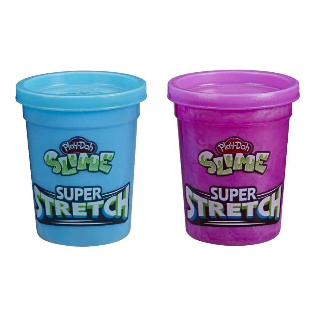 Play-Doh Slime Super Stretch 2-Pack for Kids 3 Years and Up - Purple and Blue