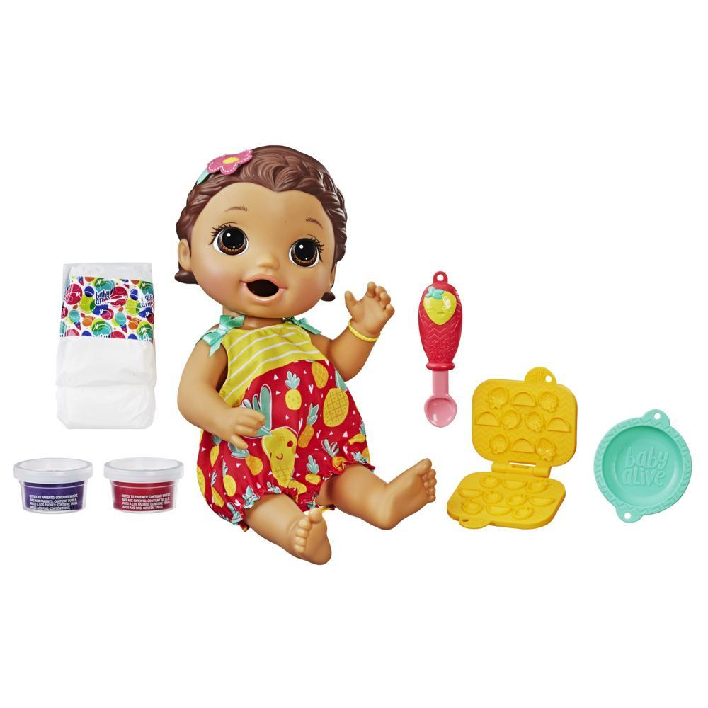 Baby Alive Super Snacks Snackin' Lily Baby: Blonde Baby Doll That Eats, with Reusable Baby Alive Doll Food, Spoon and 3 Accessories, Perfect Doll For 3 Year Old Girls and Boys And Up