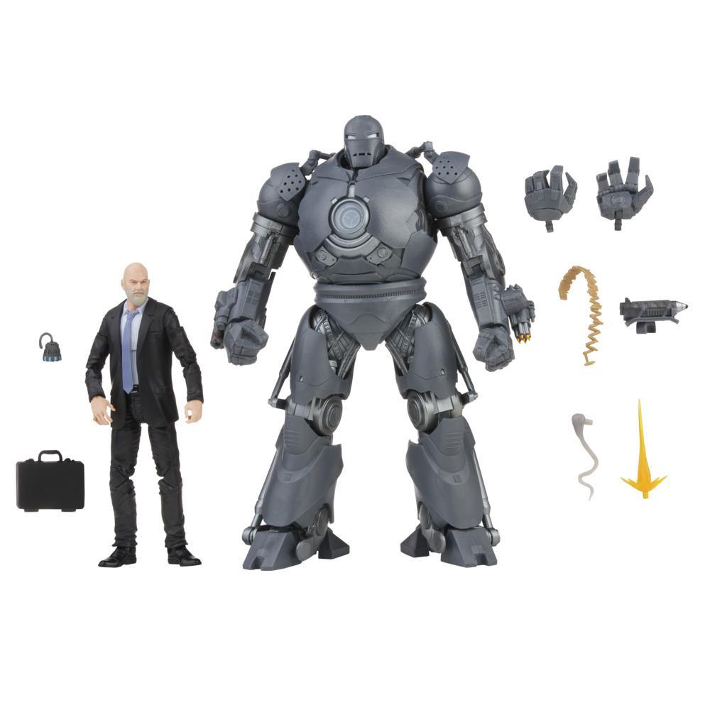 Hasbro Marvel Legends Series 6-inch Scale Action Figure Toy 2-Pack Obadiah Stane and Iron Monger, Includes Premium Design and 8 Accessories