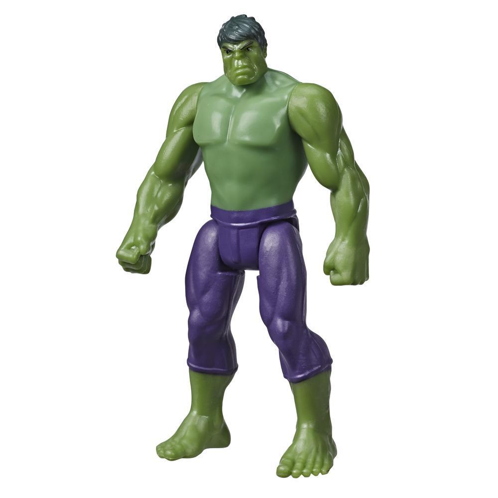 Marvel Avengers Hulk 3.75 Inch Figure, Classic Comics-Inspired Design, For Kids Ages 4 And Up