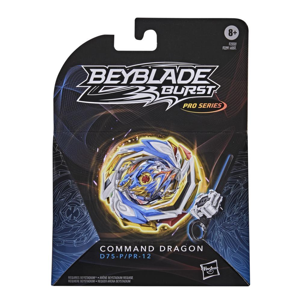 Beyblade Burst Pro Series Command Dragon Spinning Top Starter Pack -- Battling Game Top with Launcher Toy