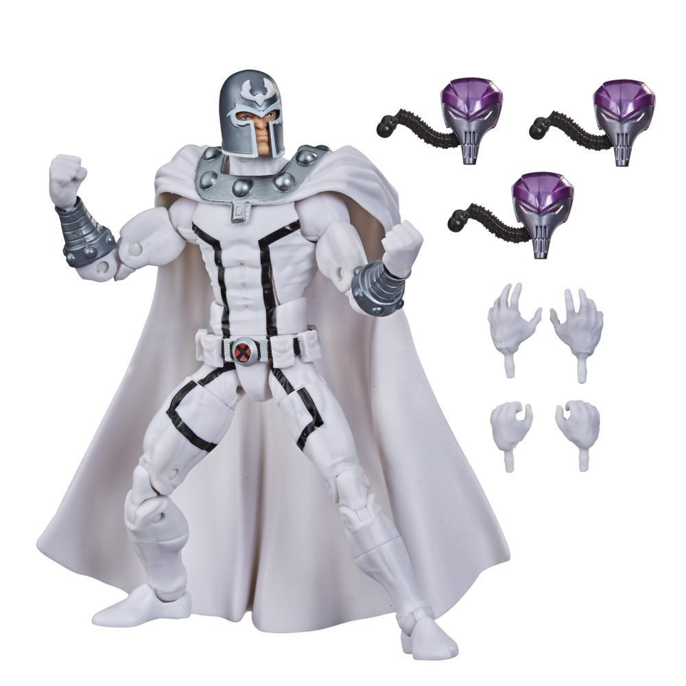 Hasbro Marvel Legends Series X-Men 6-inch Collectible Magneto Action Figure Toy And 4 Accessories, Age 4 And Up