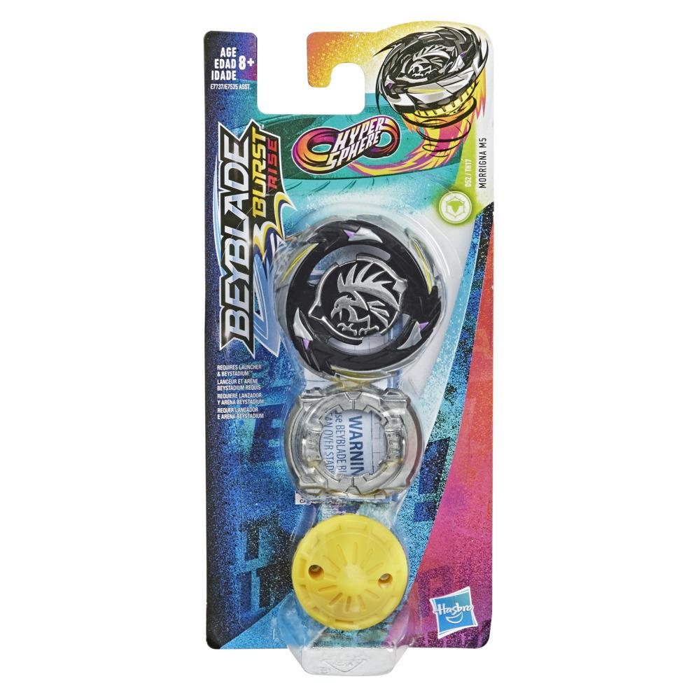 Beyblade Burst Rise Hypersphere Morrigna M5 Single Pack -- Defense Type Battling Top Toy, Ages 8 and Up