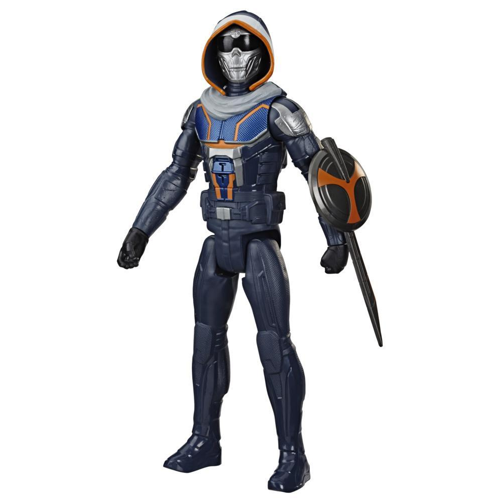 Marvel Avengers Black Widow Titan Hero Series Blast Gear Taskmaster Action Figure, 12-Inch Toy, For Kids Ages 4 And Up