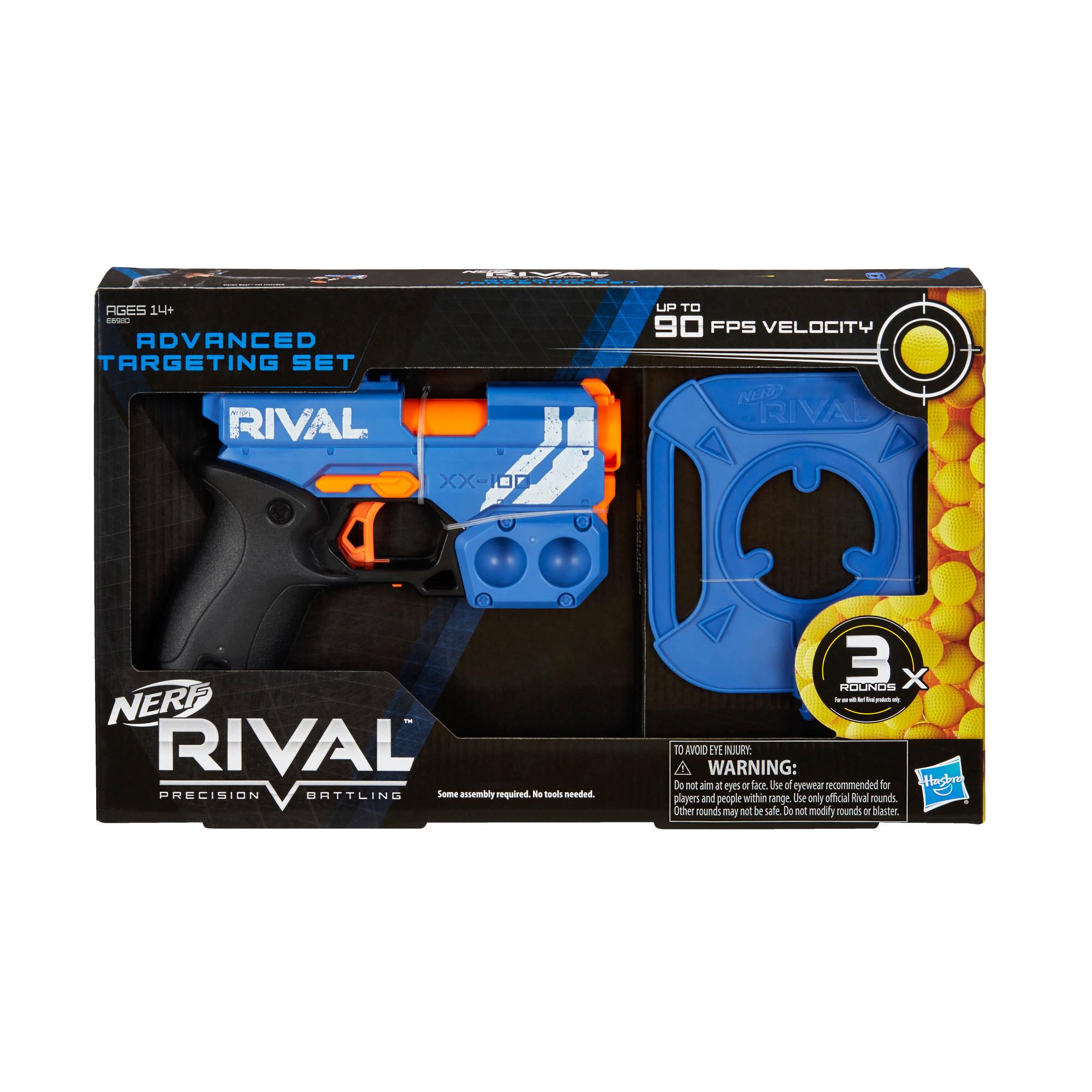 Nerf Rival Advanced Targeting Set -- Breech-Load Blaster, Suction Target, 3 Official Nerf Rival Rounds