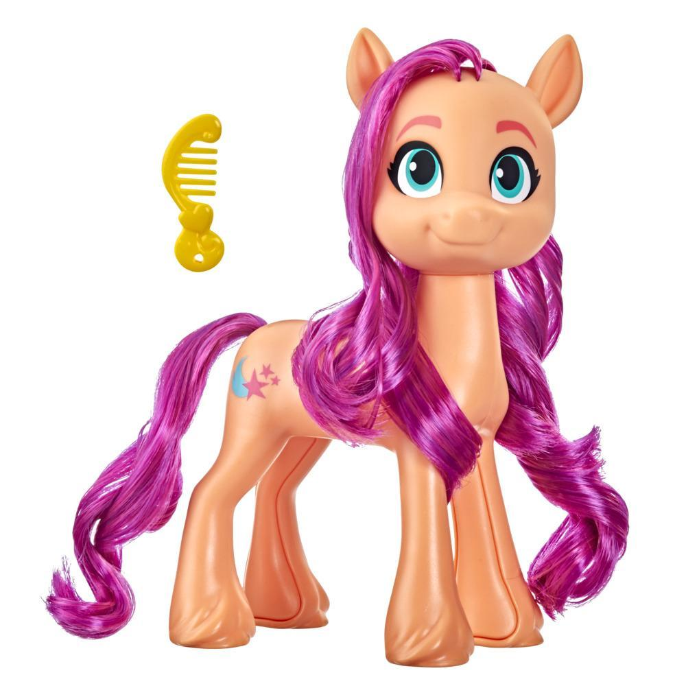 My Little Pony: A New Generation Mega Movie Friends Sunny Starscout - 8-Inch Orange Pony Toy with Comb