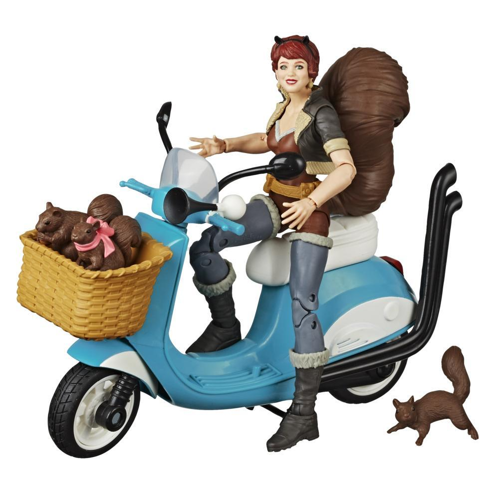 Hasbro Marvel Legends Series 6-inch Collectible Action Figure Unbeatable Squirrel Girl With Vehicle and Accessories