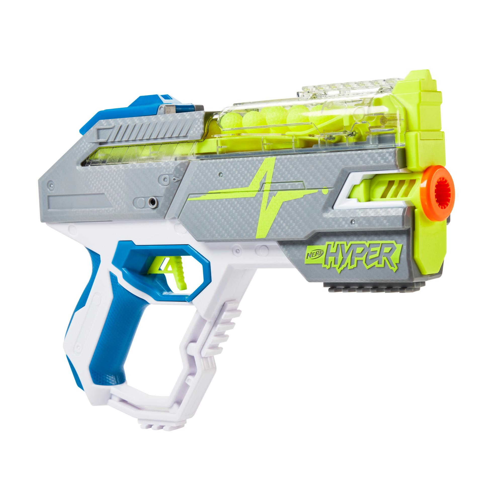 Nerf Hyper Rush-40 Pump-Action Blaster and 30 Nerf Hyper Rounds, 110 FPS Velocity, Easy Reload, 40-Round Capacity
