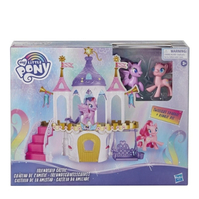 My Little Pony Friendship Castle Playset With Twilight Sparkle and Pinkie Pie 3-inch Pony Figures and 16 Accessories