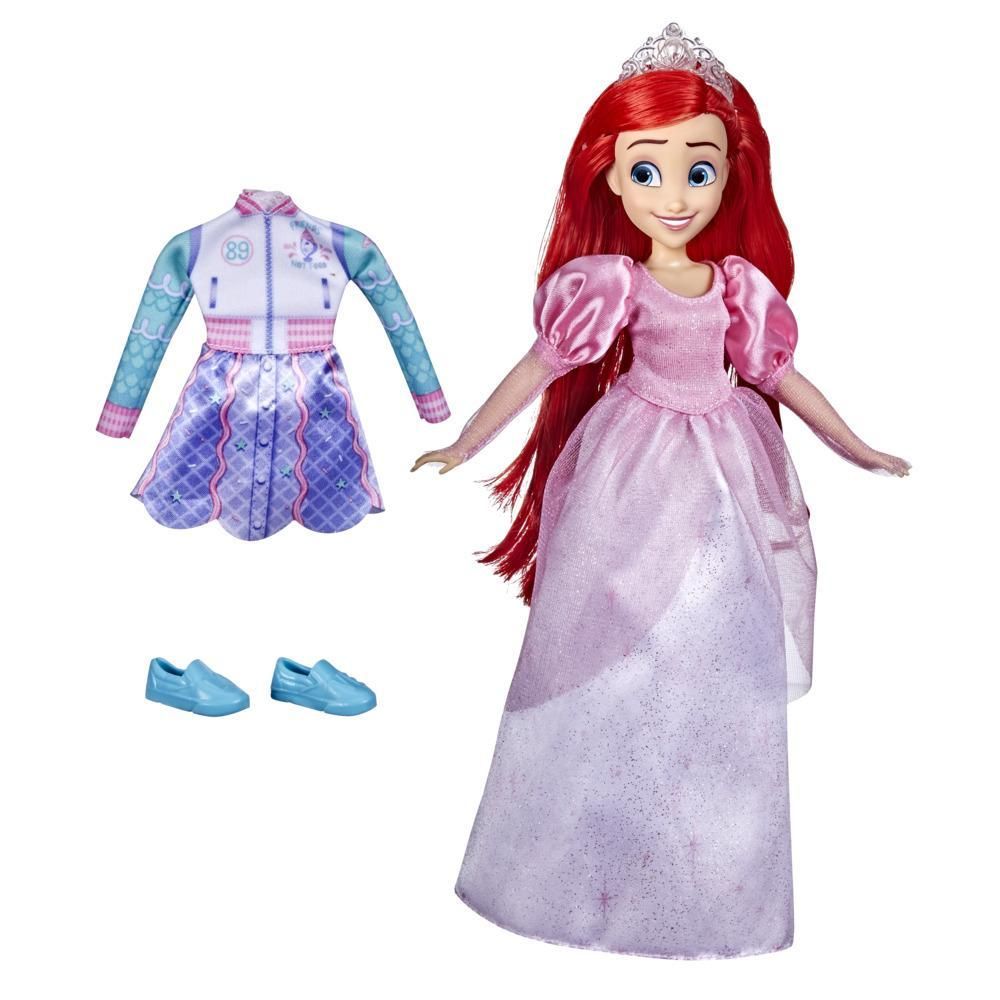 Disney Princess Comfy Squad Comfy to Classic Ariel Fashion Doll, Disney Princess Toy for Girls 5 Years and Up