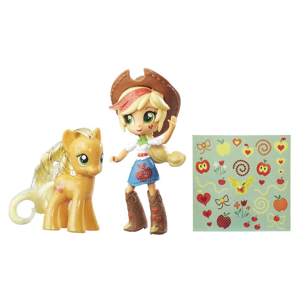 My Little Pony Applejack Toys - Glitter Pony & Equestria Girls Doll, Kids Ages 5 and Up