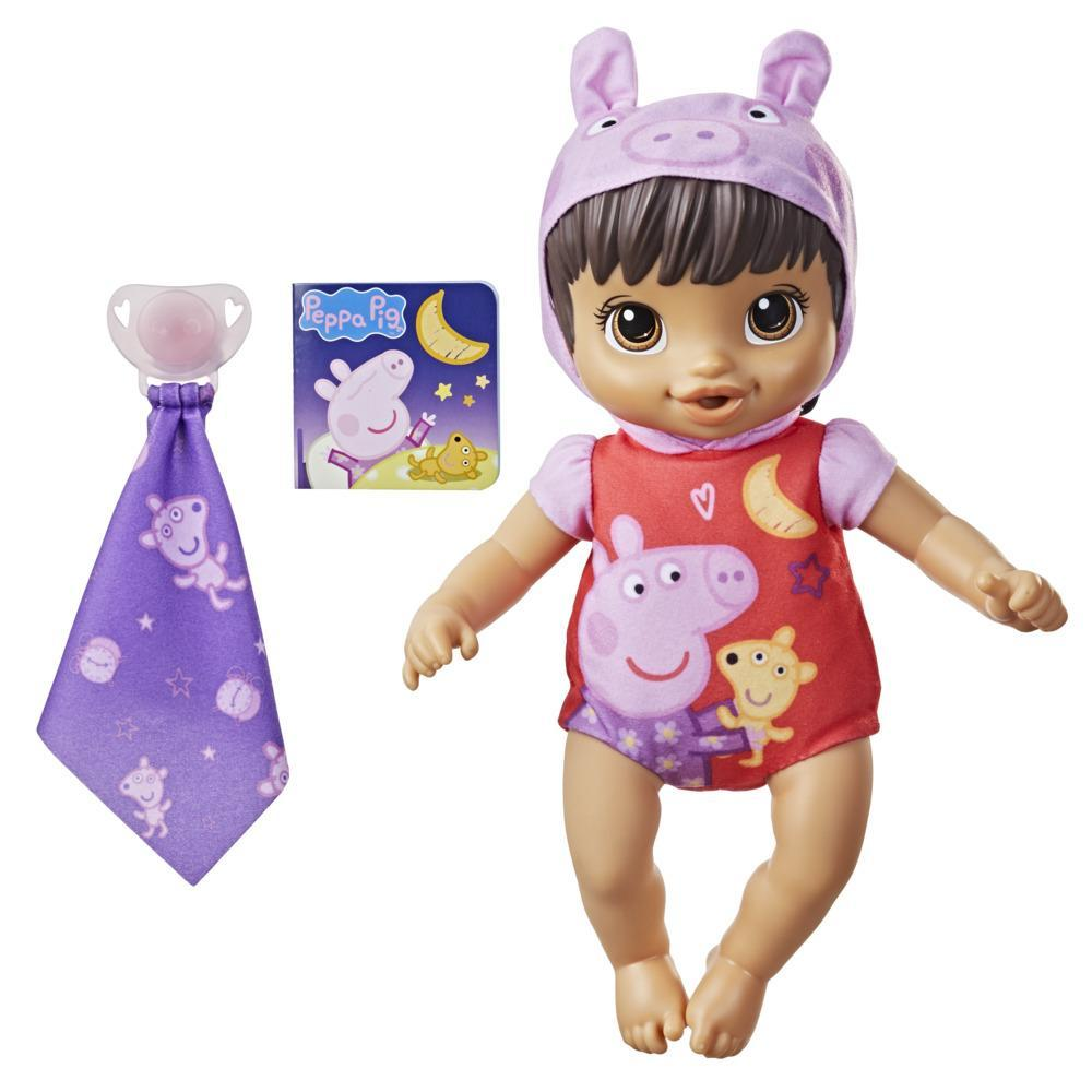 Baby Alive Goodnight Peppa Doll, Peppa Pig Toy, First Baby Doll, Soft Body, Kids Ages 2 Years and Up, Brown Hair