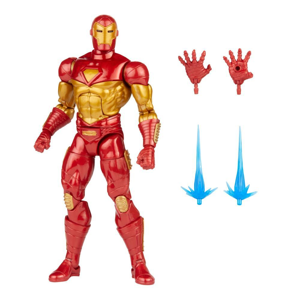 Hasbro Marvel Legends Series 6-inch Modular Iron Man Action Figure Toy, Includes 4 Accessories and 1 Build-A-Figure Part
