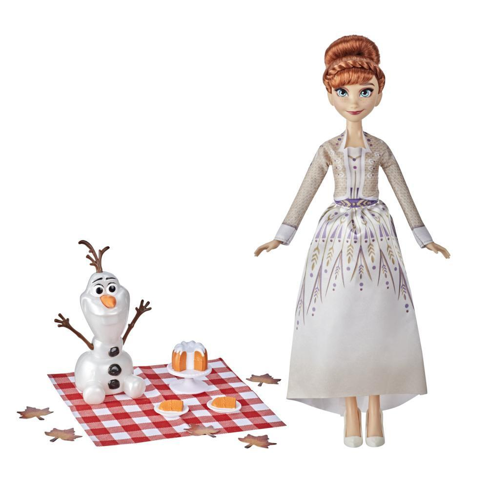 Disney's Frozen 2 Anna and Olaf's Autumn Picnic, Olaf Doll, Anna Doll with Dress, Toy for Kids 3 Years Old and Up