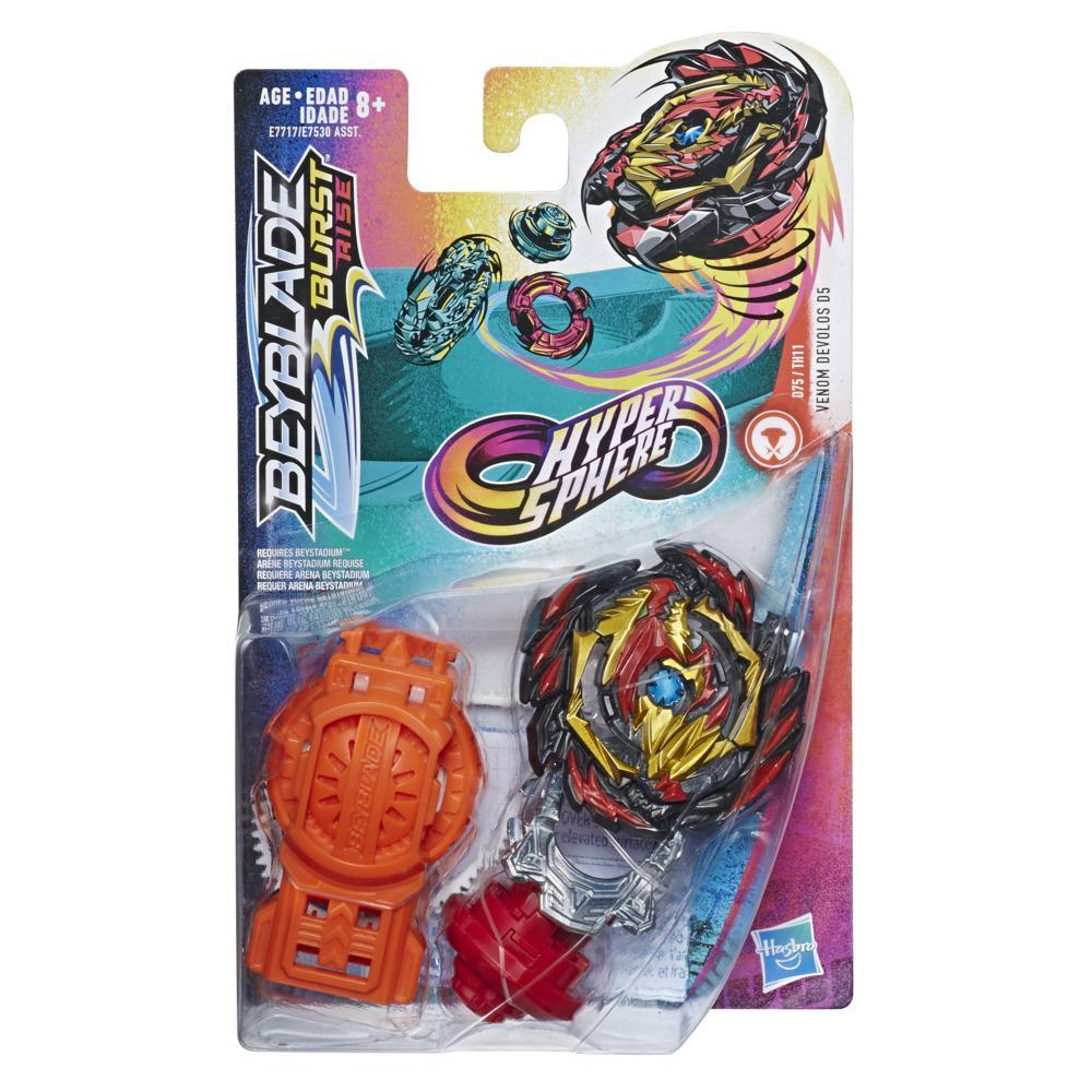 Beyblade Burst Rise Hypersphere Venom Devolos D5 Starter Pack -- Battling Top Toy and Right/Left-Spin Launcher