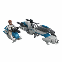 Star Wars Mission Fleet Expedition Class Obi-Wan Kenobi Jedi Speeder Chase 2.5-Inch-Scale Figure and Vehicle
