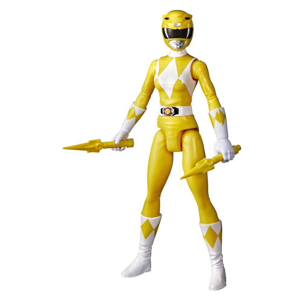 Power Rangers Mighty Morphin Yellow Ranger 12-Inch Action Figure Toy Inspired by Classic Power Rangers TV Show