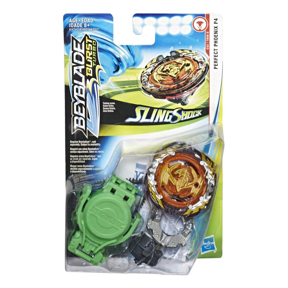 Beyblade Burst Turbo Slingshock Perfect Phoenix P4 Starter Pack -- Battling Top Toy and Right/Left-Spin Launcher