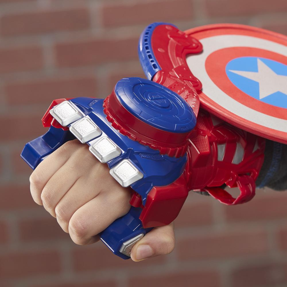 NERF Power Moves Marvel Avengers Captain America Shield Sling Disc-Launching Toy for Kids Roleplay, Kids Ages 5 and Up