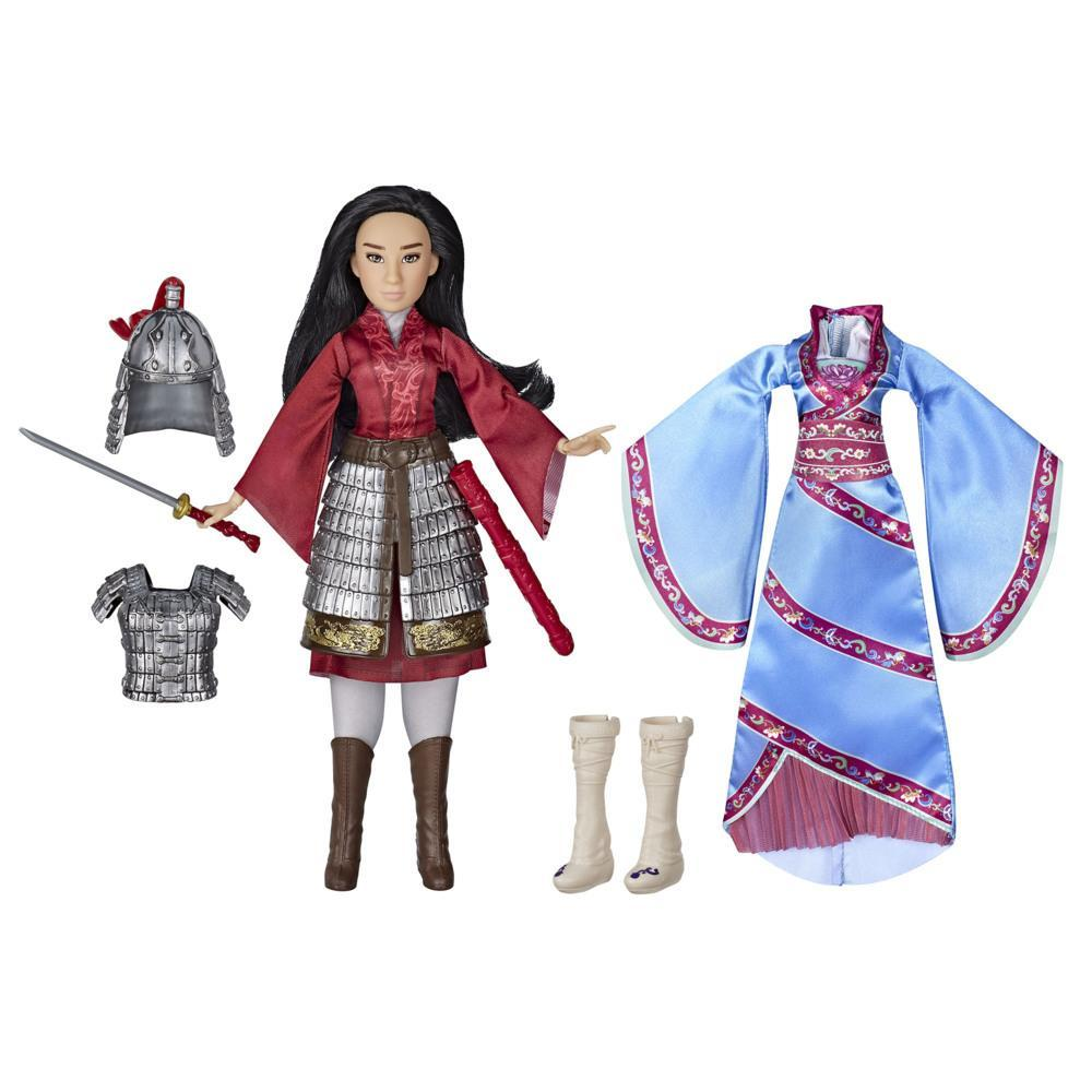 Disney Mulan Two Reflections Set, Doll with 2 Outfits and Accessories, Inspired by Disney's Mulan Movie
