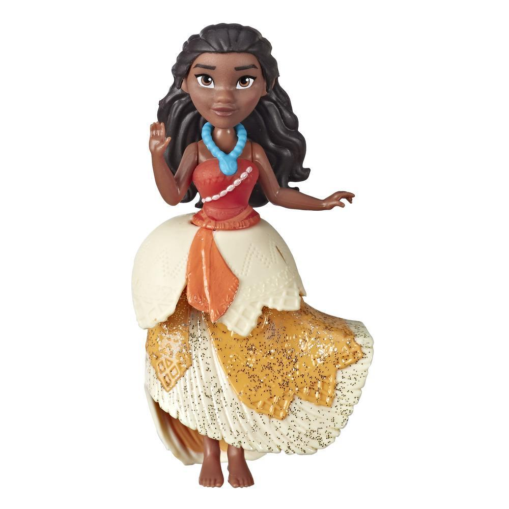 Disney Princess Moana Collectible Doll with Glittery One-Clip Dress, Royal Clips Fashion Toy for 3 year olds and Up